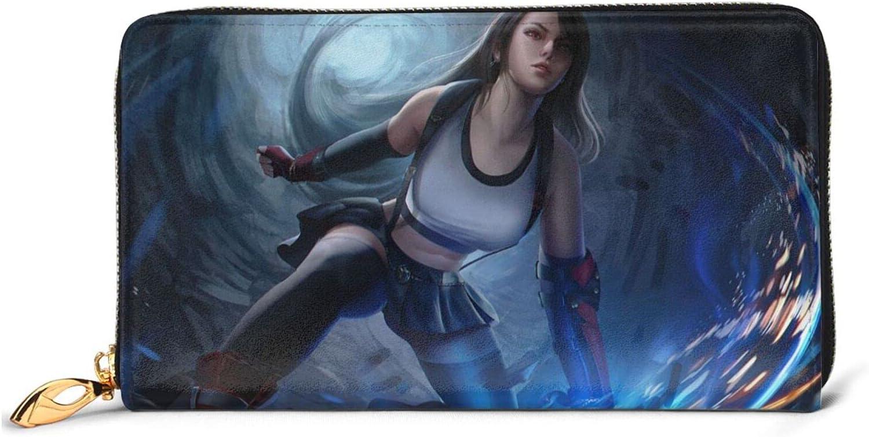 Final-Fantasy Leather Wallet Zipper Li Save money National products Clutch Stylish