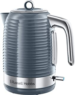 Russell Hobbs 24363 Inspire Electric Kettle, 1.7 Litre Cordless Hot Water Dispenser with 1 Cup 45 Second Fast Boil, Grey, 3000 W