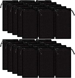 50 pièces Étuis à lunettes souple Etui de protection en microfibre noir Etui de nettoyage Lunettes de soleil Lunettes de v...