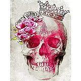 JHGJHK Arte Creatividad Horror cráneo Pintura al óleo Vacaciones Arte de la Pared Decoraciones Sala de Estar decoración de la habitación (Imagen 6)