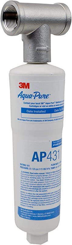 3M Aqua Pure Whole House Scale Inhibition Inline Water System AP430SS Helps Prevent Scale Build Up On Hot Water Heaters And Boilers