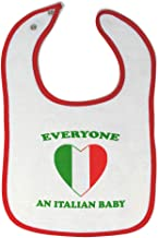 Custom Baby Bibs Burp Cloths Everyone Loves Italian Cotton Baby Items for Baby Girl & Boy White Red Design Only