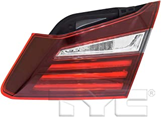 Fits 2016-2017 Honda Accord Passenger Side Rear Inner Tail Light CAPA Certified With Bulbs Included HO2803109 - Replaces 34150-T2A-A21 ;Sedan