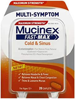 Mucinex Fast-Max Congestion & Headache Caplets, 20ct