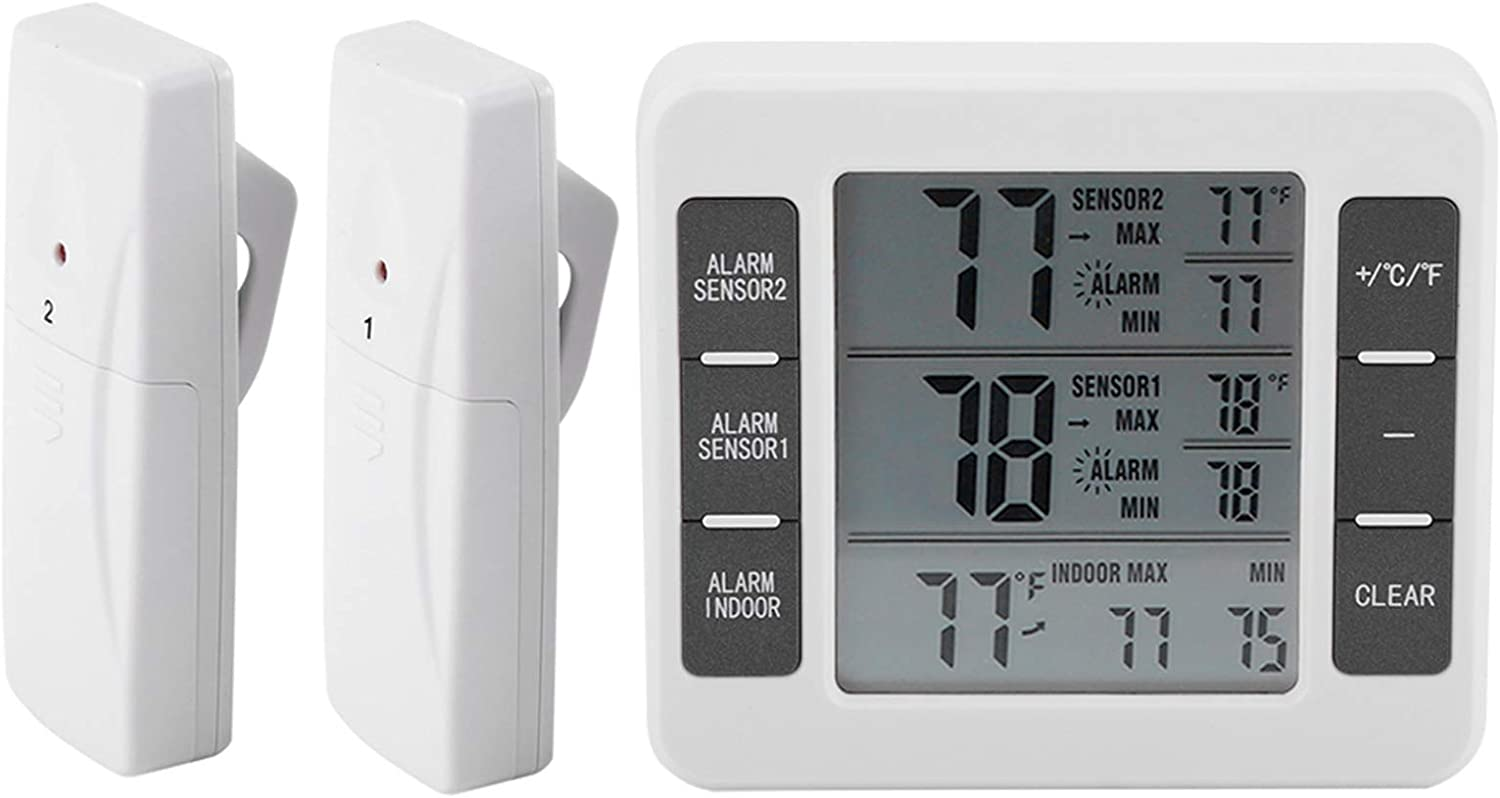 Super popular specialty store Bombing free shipping Digital Refrigerater Therometer Alarm Audible Wireless