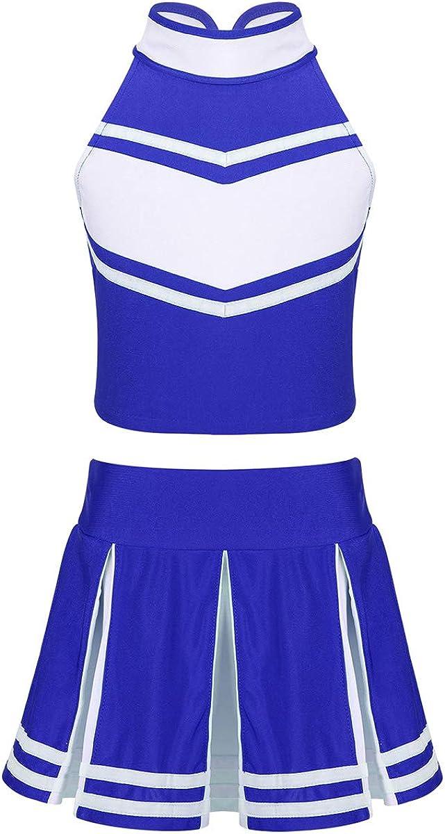 zdhoor Kids Girls 2Pcs Albuquerque Mall Cheerleading School Costume Rapid rise Dance Uniform
