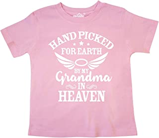 Inktastic Handpicked for Earth By My Grandma in Heaven Angel Toddler T-Shirt
