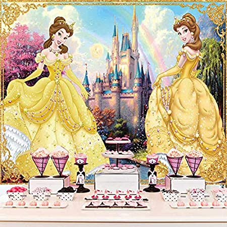 New Medieval Palace Pillar Backdrop 7x5ft Beauty and The Beast Theme Party Photography Background Kids Birthday Party Decorations 0437