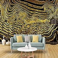 カスタム写真3D抽象ゴールデンカーブウォールアート壁画クリエイティブスタディリビングルームソファテレビ背景ウォールペーパー家の装飾モダン* 150cmx105cm3D非織りプレミアムアートプリントフリース壁壁画装飾