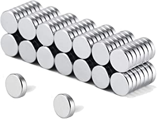 Refrigerator Magnets, 100PCS Brushed Nickel Fridge Magnets,Stainless Steel Mini Round Magnets,Whiteboard Magnets,Office Magnets For Crafts,0.25