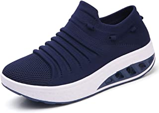 ZYEN Women's Breathable Walking Casual Shoes Lightweight Slip On Mesh Running Athletic Sneakers