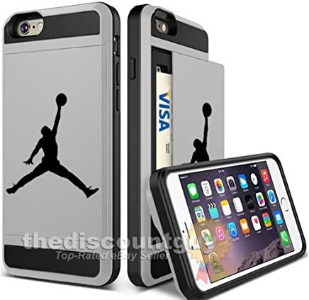 8c6aa0849ff Apple iPhone Dual-Layered Credit Card ID Storage Basketball Case Michael  Jordan Store Money Cash