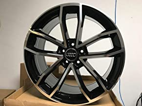 19 inch x 8.5 Wheels Rims S5 S Style Black Machined Face Compatible with FOR 5X112 BOLT PATTERN AUDI VW AUDI A3 A4 A5 A6 A7 A8 +35MM ET