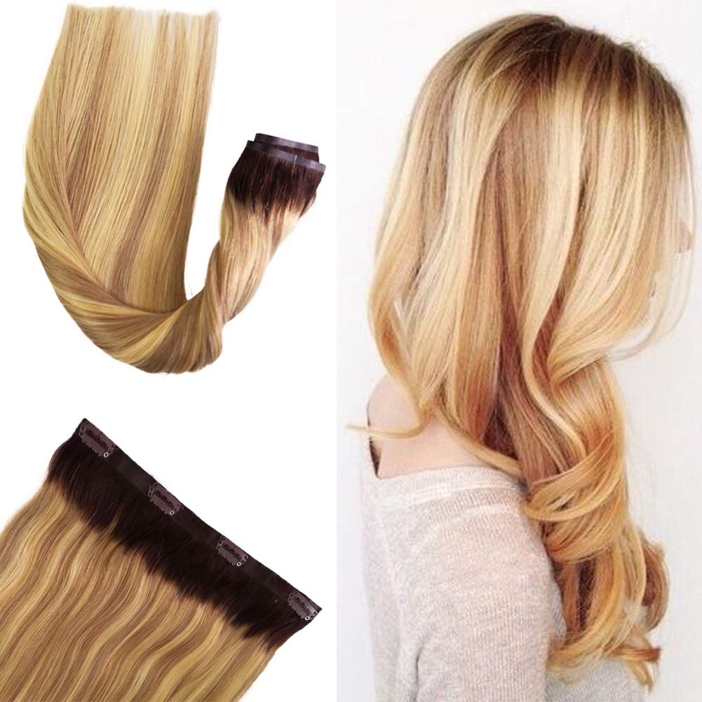 Sale item Human Hair Clip in Seamless Superlatite Blon Extensions