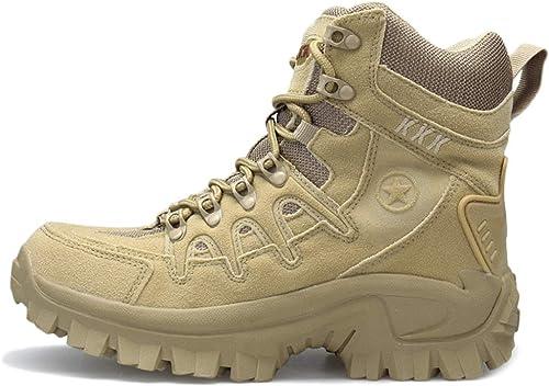 Yra Male Martin Bottes Bottes Militaire Bottes en Plein Air Hauts Tops Outillage Desert Bottes pour Hommes Alpinisme Cross Country Chaussures De Marche Tactique Chaussures