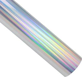 TECKWRAP Fogli in vinile argento olografico cromo arcobaleno