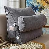 Sensecrol Dreieck Kissen Einfache Stil Sofakissen großes Kissen Reißverschluss abnehmbar und...