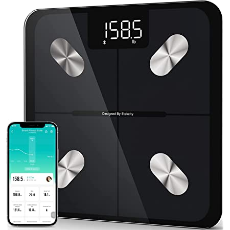 Etekcity Smart Scale for Body Weight, Digital Bathroom Weighing Scales with Body Fat and Water Weight for People, Bluetooth BMI Electronic Body Analyzer Machine, 400lb