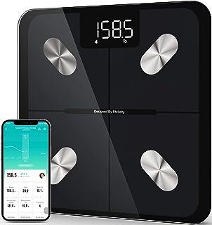 Etekcity Báscula inteligente para peso corporal, balanza digital de baño con grasa corporal y peso de agua para personas, ...
