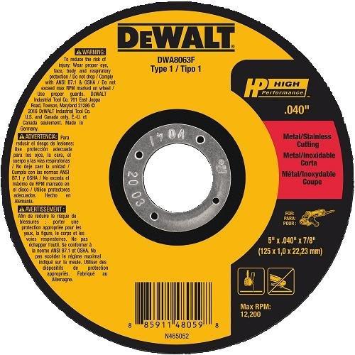 DEWALT DWA8063F T1 HP Fast Cut-Off Wheel, 5