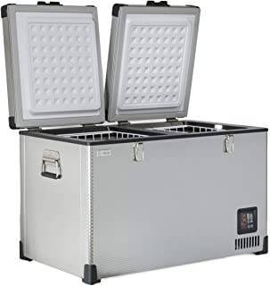 SunDanzer 12v DC Electric Powered Cooler, Portable Dual Zone Fridge Freezer, SD 68L, Great for Off-Grid, Camping, Cars, Trucks, RV's and Minivans, 12/24v