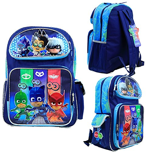 Nickelodeon PJ Masks Kids 16' Large School Backpack Book Bag Licensed New USA