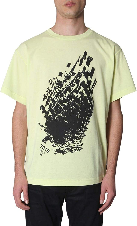 STONE ISLAND SHADOW PROJECT Men's 701920510V0051 Yellow Cotton TShirt