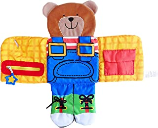 Aibearty Children's Learn to Dress Toy Toddler Early Learning Basic Life Skills Plush Doll