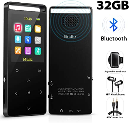 1379a0c73 MP3 Player,32GB MP3 Player with Bluetooth,Portable Bluetooth Lossless MP3  Music Players,