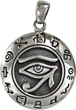 eye of horus silver pendant