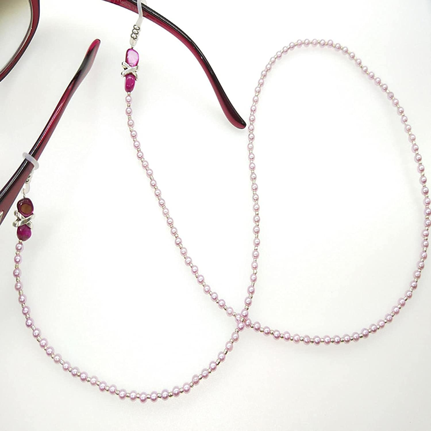Wsnld Reading Glasses Chain for Women Elegant Pearl Cords Sunglasses Strap HIC Eyeglass Jewelry Accessories