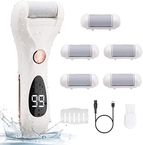 Electric Callus Remover, Rechargeable Foot File Pedicure Tools for Feet Electronic Callus Shaver Waterproof Pedicure ...
