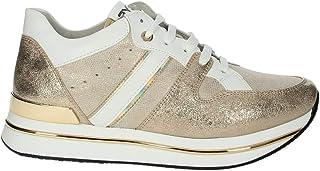 Keys K-501 Sneaker Woman Platino, Scarpe Casual Stringate da Donna