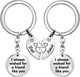2 Pcs Friendship Keychains for Women Girls Birthday Gifts Thanksgiving Day Gifts