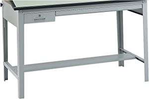 Safco Products Precision Drafting Table Base for use with 3952, 3953 Table Top, Sold Separately, Gray