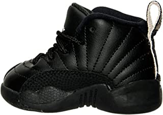 f301d637ac2759 Nike AIR Jordan 12 Retro TD XII Toddler Black White The Master 850000 013