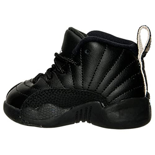 reputable site aa842 9b78a Nike AIR Jordan 12 Retro TD XII Toddler Black White The Master 850000 013