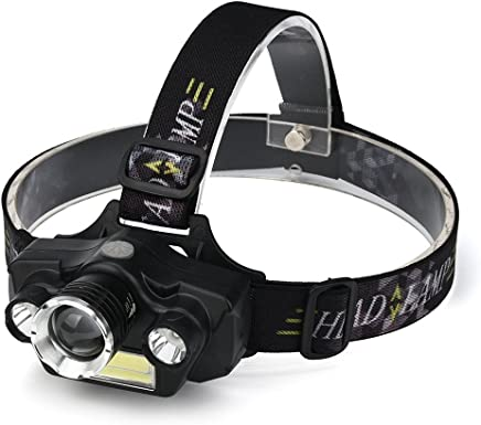 Perfect Home Headlights Brightest 5 Mode LED Headlights Lightweight USB Rechargeable Headlights Flashlight Lighting 4 Lights Super Bright Outdoor Camping Hunting Fishing Headlights Durable
