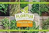 Flortus 2000-0240 Kräuter-Set: Kräuter Mix mit 10 Sorten (Kräutersamen)