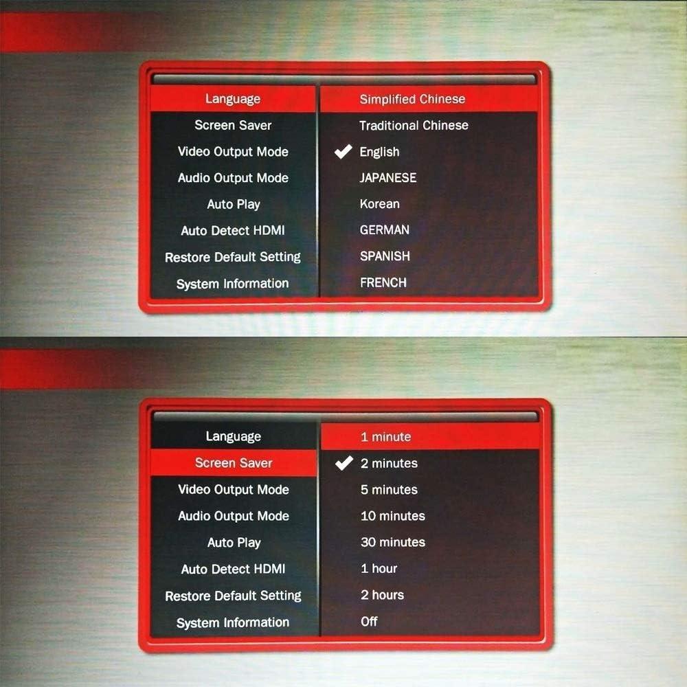 LAIGUANGJIE-US Mini 1080P Extensive HD Media USB HDD SD/MMC Card Player Box (Color : Black)