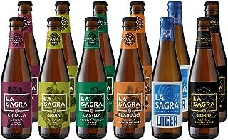 comprar comparacion La Sagra Pack Degustación de Cerveza Artesanal 6 estilos - 12 botellas x 330 ml - Total: 3960 ml