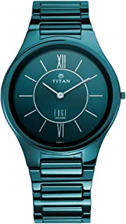 ساعة يد بمينا ازرق وعرض انالوج من مجموعة سيراميك ايدج للرجال من تيتان