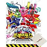 Impuzzle Power Rangers Fuerza del Tren, Miracle posición - toei Animation - 100 Piezas de Gran tamaño Rompecabezas [Se Incluye Bolsa]