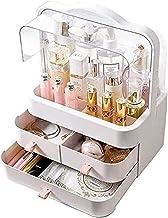 Sieraden Doos Sieraden Opslag Opbergdoos Cosmetica Make-up Organizer Meer 3 Laden Display Box met Handvat Transparant Lid ...