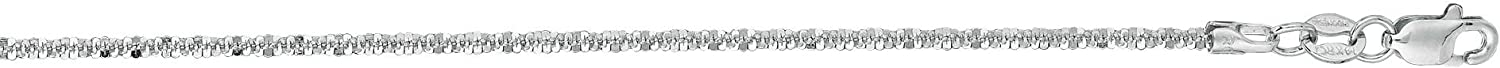 Finejewelers 14 Kt White Gold 10 Inch 1.5mm Bright Cut Sparkle Chain Anklet with Lobster Clasp