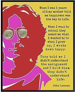 Details about  /John Lennon Quote Framed Five Piece Canvas Multi Panel Home Decor Art show original title