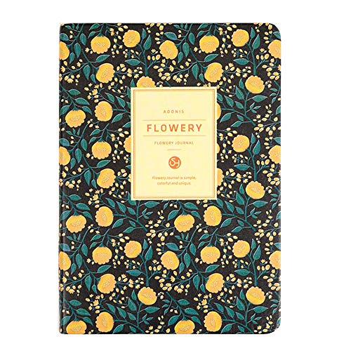 Lirener Personal Calendario Diario Planificador Semanal Diseño Organizador(Patrón de Flora), Cuaderno del Planificador De Agenda Semanal Memo Pad Weekly Planner, página sin Fecha