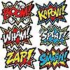 XL スーパーヒーロー 背景幕 6つのコミックアクションワードフォトブース小道具付き スーパーヒーロー バースデーパーティー 都市景色 バックドロップバナー 壁に飾れる 716686289911