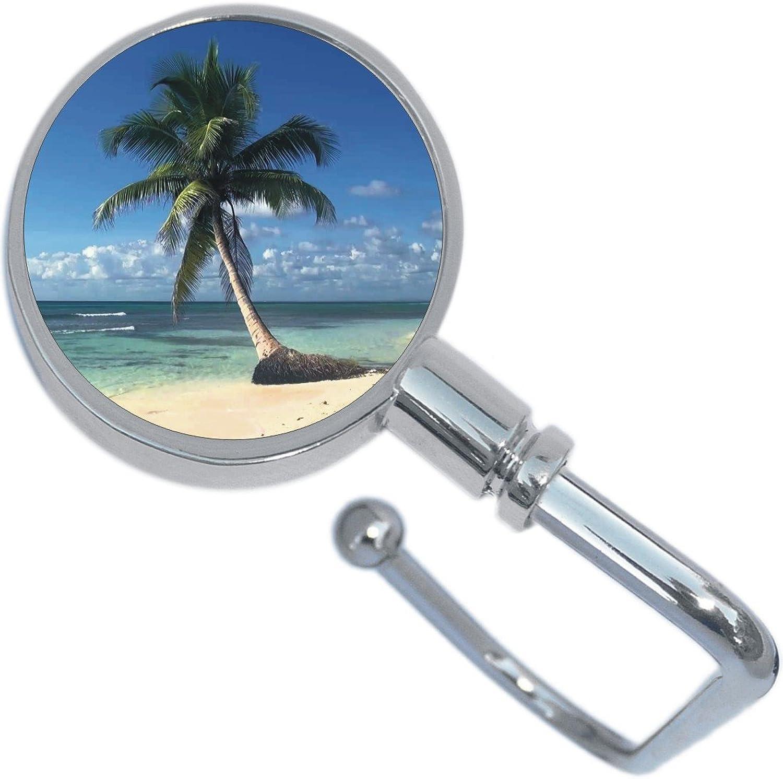 Palm Tree Island Beach Tropical Purse Hanger