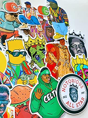 YCYY 24 Rap Legend Biggie Smalls Street Hip-Hop Clásico Hiphop Equipaje Pegatinas para computadora